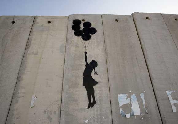 Banksy - barriera di separazione israeliana in Cisgiordania