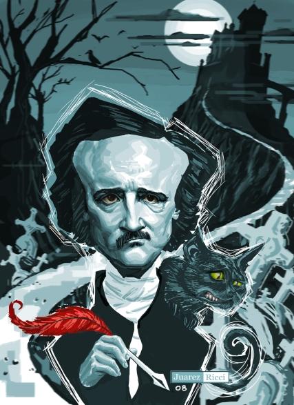 Edgar Allan Poe - by Jaurez Ricci