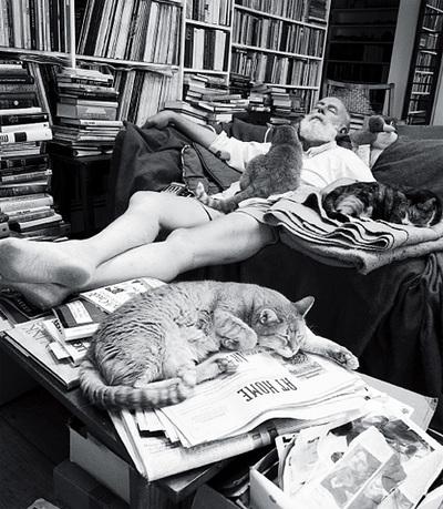 Edward Gorey coi suoi gatti
