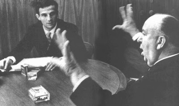 Francois Truffaut e Alfred Hitchcock