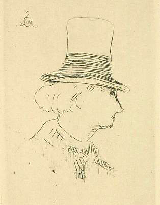 Charles Baudelaire by Manet