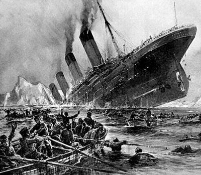 Titanic - L'affondamento in un dipinto d'epoca di Willy Stöwer