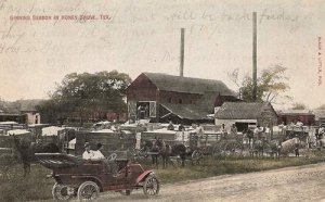 Gining Season in HONEY GROVE, TX post mark DEC 1909