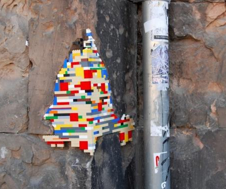 Jan Vormann - Lego street art