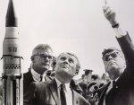 Wernher von Braun (center) was Germany's top rocket engineer before and during the war.
