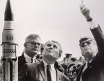 Wernher von Braun (center) was Germany's top rocket engineer before and during the war.