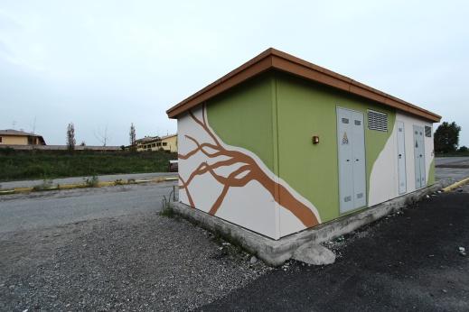 ECOMasse - Piscine di Provaglio d'Iseo. Cabina elettrica.