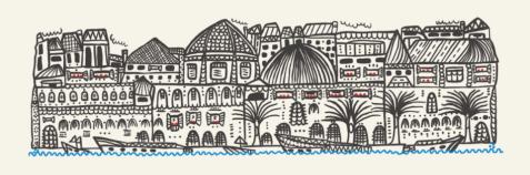 La Fille Bertha - illustrazione città di Cagliari