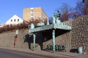 David Cerny - Liberec bus stop