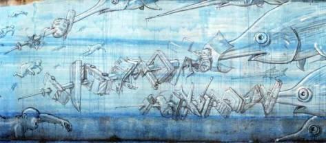 Blu street artist