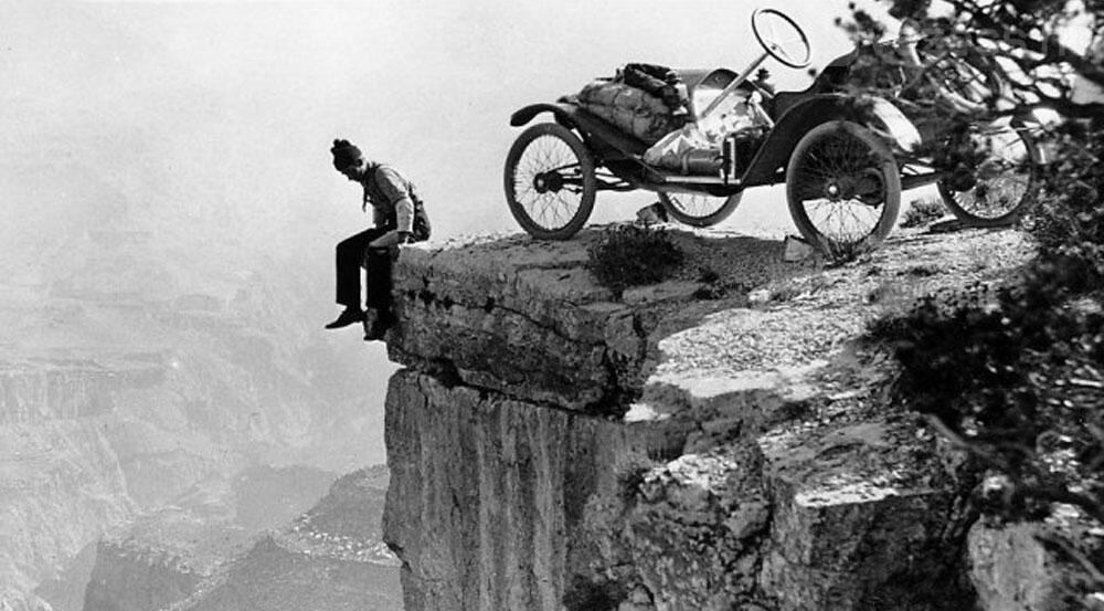 Parking at the Grand Canyon - 1914