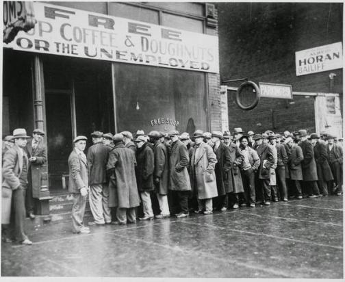 Mensa di Al Capone durante la Grande Depressione, Chicago, 1931