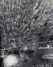 Vista aerea di Manhattan, New York, 1944. Foto di Andreas Feininger