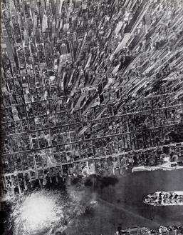 Vista aerea di Manhattan, New York, 1944. Foto di Andreas Feininger