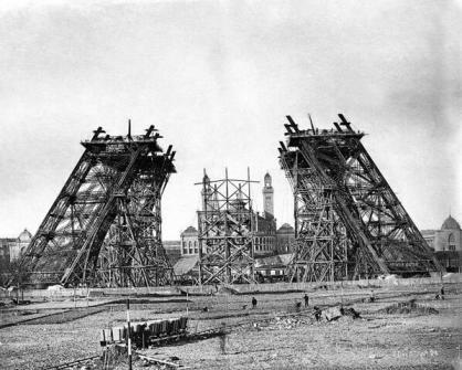 La Torre Eiffel in costruzione, 1887