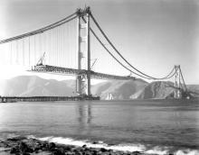 Golden Gate in costruzione - 1937
