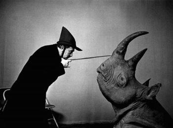 Halsman Dalì - Dalì e il rinoceronte, 1956