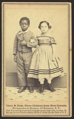 Isacco e Rosa, 1863. Rosa è di razza mista. Entrambi erano ex schiavi