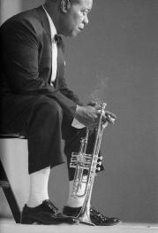 Louis Armstrong. Photo by Hervé Gloaguen, 1965