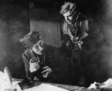 Max Schreck e Gustav von Wangenheim in Nosferatu, 1922