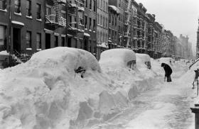 Bufera di neve a New York City, 1947