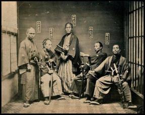 Vecchia e rara foto dei Samurai. 1860 - 1880