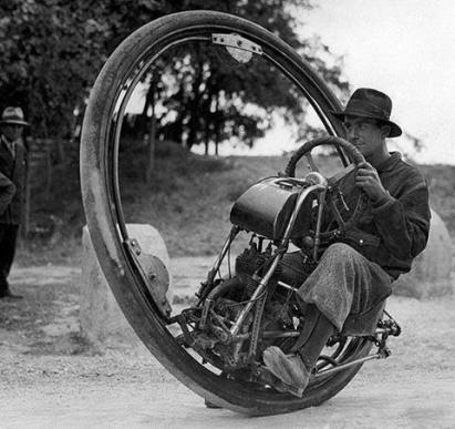 La Motoruota inventata dall'italiano Goventosa, 1931