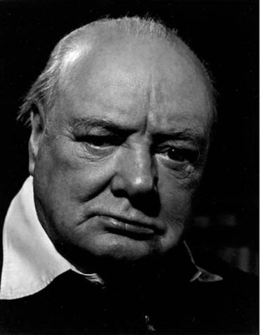 Philippe Halsman - Winston Churchill