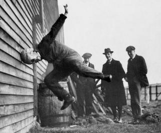 Testing Football Helmets - 1912