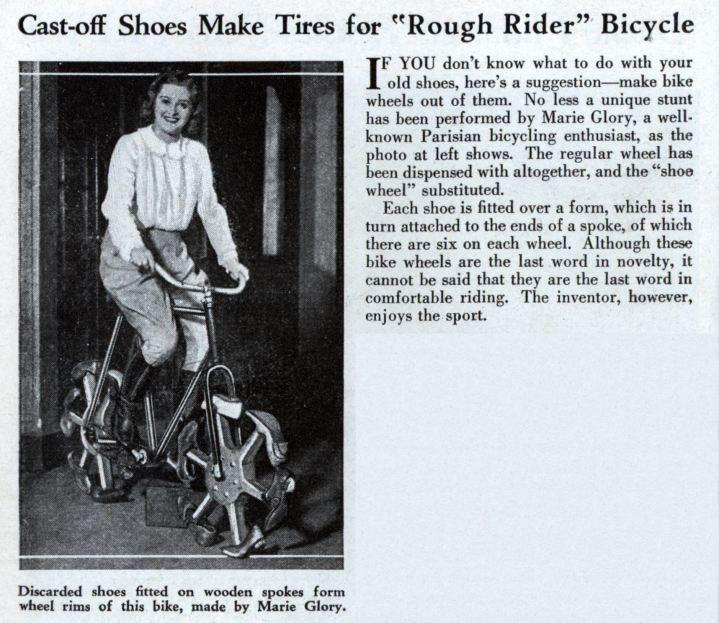 Woman on a shoe bike