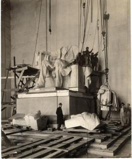 1920 costruzione del Lincoln Memorial
