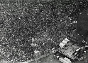 Vista aerea di Woodstock, 1969