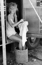 Brigitte Bardot sul set di Viva Maria, 1965