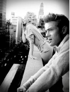 Marilyn Monroe e James Dean a New York