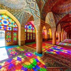 La moschea Nasir al-Mulk in Iran