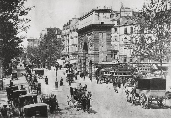 Parigi prima dell'avvento dell'automobile, c. 1895