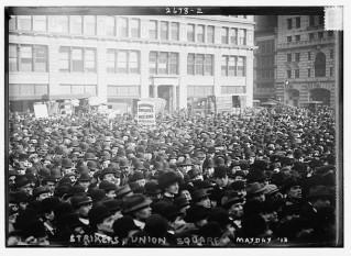 Scioperanti in Union Square