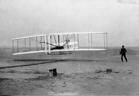 Il primo volo dei fratelli Wright. 17 Dic 1903