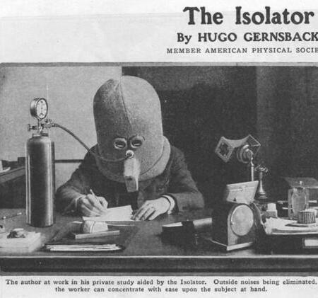 L'Isolator, un casco inventato nel 1925 che incoraggia attenzione e concentrazione