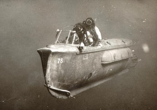 Veicolo subacqueo utilizzato dal commando israeliano, 1967