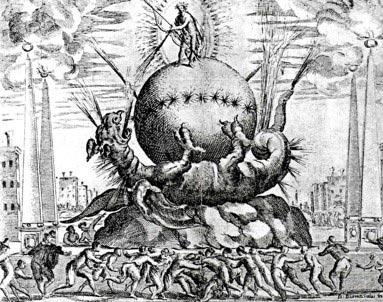 Apollo uccide Pitone (Giovanni Burnacini)
