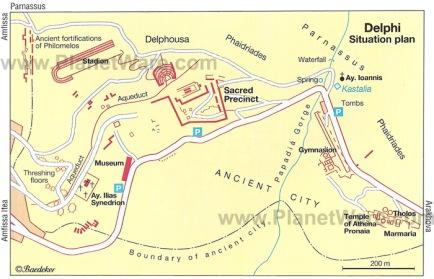 Cartina scavi