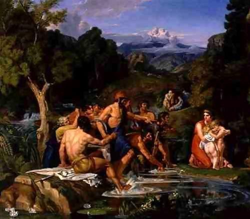 Latona e Zeus, nascita di Apollo e Artemide (Joshua Cristall)