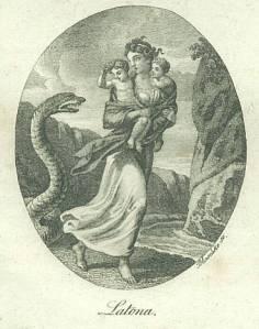 Latona scappa da Pitone