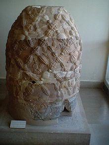 L'Omphalos di origini romane esposto al museo di Delfi