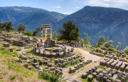 Delfi - Tempio di Athena