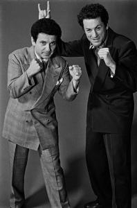 Joe Pesci e Robert De Niro durante la realizzazione di Toro Scatenato