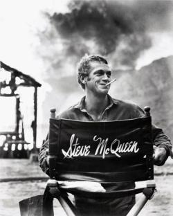 Steve McQueen sul set di Nevada Smith, 1966