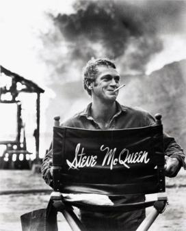Steve McQueen sul set di Nevada Smith, 1966