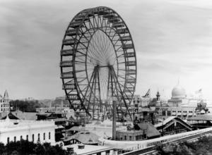 La prima ruota panoramica realizzata per la Fiera di Chicago nel 1893
